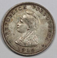 PORTUGUESE-INDIA 1912 1 Rupia Silver Coin XF+ KM #18