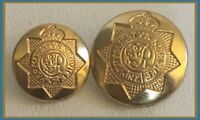 Vintage Her Majesty's Service Gold Tone Buttons - Set Of 2