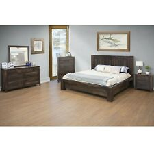 Crafters & Weavers Keila Rustic Modern Bedroom 5 Piece Set - Dark Brown - Queen