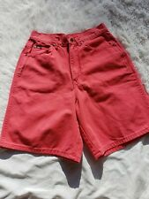Vintage Jean Shorts Size 12 Coral Pink High Waist Mom 80's Decades Party