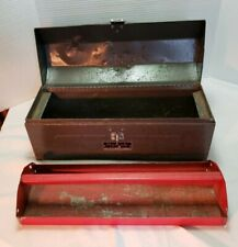 Vintage Homak 19-inch gray steel Hip-Roof/Cantilever Tool Box with tray