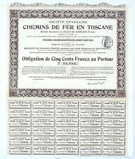 ITALIE & Paris - Ste Française de CDF en Toscane Ligne Sienne à Montantico  1910