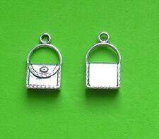 15x 3D Handbag Bag Girlie Purse Holiday Night Out Tibetan Silver Charm Pendant