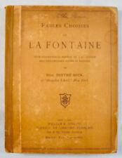 Fables Choisies De La Fontaine Antique Book 1892 Berthe Beck William Jenkins (O)
