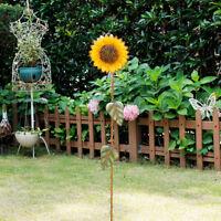 "Sunflower Garden Stake, Metal Outdoor Yard Decor Patio Ornaments Stake (39""H)"