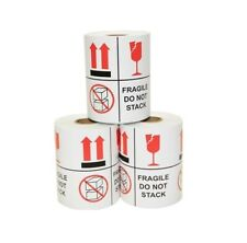 3 Rolls 4 X 4 Fragile Do Not Stack Stickers 300 Per Roll 1 Core 900 Total
