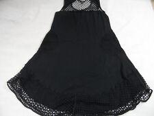 HEBBEDING tolles Jerseykleid mit Netzeinsätzen schwarz Gr. 2 TOP KD119
