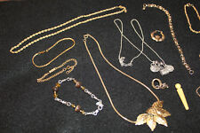 Lot Vintage Modern Necklaces Bracelets Charms Earrings Rope Chains