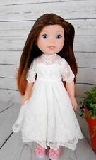 "8-9"" Custom Doll Wig fits Dolfie, Luts, Zapf, Wellie Wisher L'IL DARK FADE bn1"