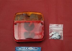 2 FANALI RIMORCHI APPENDICE ROULOTTES TRATTORE rear lamp