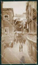 Croazia Sebenico RIFILATA Foto cartolina QT4123