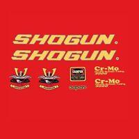 Shogun 3000 Calcamonías para bicicleta, Transfers, ADHESIVOS N.100