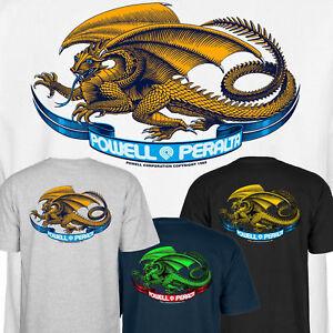 POWELL PERALTA - Oval Dragon - Skateboard Tee T Shirt - Bones Brigade