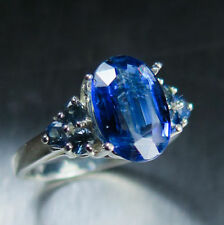 Natural Oval Sterling Silver Sapphire Fine Rings