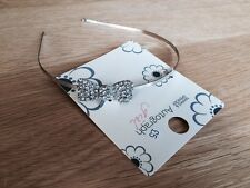 New Marks and Spencer Autograph Girls Silver Bow Hair Band