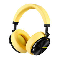 Bluedio T5 Bluetooth Headphone Active Nosing Cancelling Yellow Bass Mic Headsets