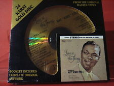 "DCC GZS-1104 NAT KING COLE "" LOVE IS THE THING ""(24 KT GOLD COMPACT DISC/SEALED)"