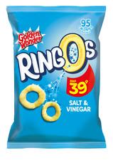 Golden Wonder Ringos Salt & Vinegar 24 x 20g
