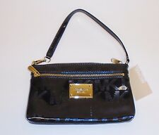 Michael Kors Signature Jet Set Item Large Wristlet Mirror Metallic Black