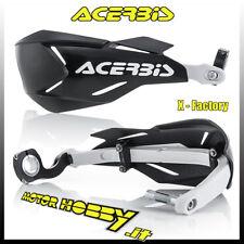 Coppia Paramani Nero/bianco X-factory Kit montaggio Universali Moto Acerbis