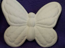 """Butterfly Soft Sculpted 8"""" Ceramic Bisque, Ready To Paint"""