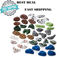 Metolius Kids Rock Greatest Climbing Wall Holds Screw Assorted 40 Pack NEW USA