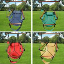 Hammock Chair Swing Seat Indoor Outdoor Garden Patio Yard Single Hanging Rope