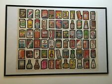 Wacky Packages 1980 Series 4 Half an UNCUT SHEET set of 66 in a Poster Frame