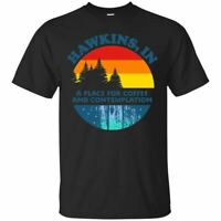 Hawkins T-Shirt In A Place For Coffee And Contemplation Men's Tee Shirt