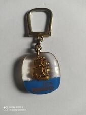 Porte-clés BOURBON Navire FLAN RUBAN BLEU keychain vintage années 60