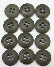 Us military Od green fatigue btu Uniform buttons 3/4in 19mm 30L lot of 12 B2207