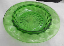 JEANNETTE CUBE GREEN BUTTER DISH BOTTOM ONLY GLASS RARE ROUND 1929