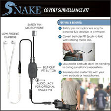 SNAKE Quick Release Ipod-Style Covert Surveillance Earpiece for Motorola XTS