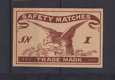 Ancienne    étiquette  allumettes  Tchécoslovaquie  AC144 Oiseau  Aigle 1