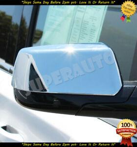 For 2015-2019 Chevrolet Tahoe+Suburban Chrome Top Half Door Mirror Cover Covers