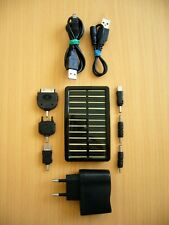 "LOGILINK Solar Charger (((PA0025))) Ladegerät m. LED ""5V-1A"" Inklusive 6 Adapter"