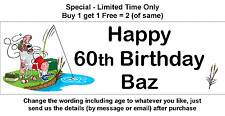 Personalised Birthday Party Banner _  SLEEPING FISHERMAN FISHING - FUNNY, HUMOUR