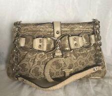 Small GUESS Faux Leather/Fabric Shoulder Bag / Handbag