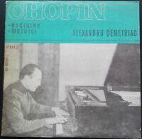 Chopin - Nocturnes & Mazurcas, ALEXANDRU DEMETRIAD, Electrecord STEREO