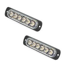 2er Set ST6 LED Frontblitzer / Strassenräumer von Axixtech   12-24V   SuperThin