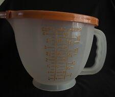 New Vintage Tupperware Mix N Stor Store Orange Letter Measuring 4 Cup 32oz Rare