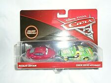 "Mattel Disney Pixar Cars 3 Natalie Certain & Chick Hicks Die-Cast Cars ""NEW"""