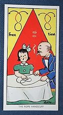 Magic  Rope Handcuff  Trick   Superb Vintage Card