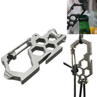 6pcs Durable Metal Carabiner Clip Style Spring Key Chain Keyring  TPD