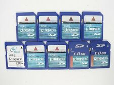Lot Of 9x Kingston 1GB SD Camera Memory Cards