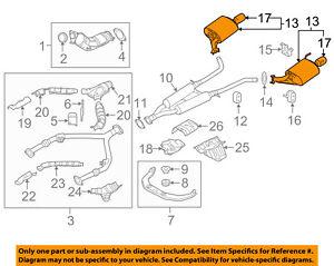 Infiniti NISSAN OEM 11-13 M56 5.6L-V8-Muffler 201001ML1A