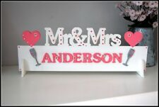 Monsieur & Madame table M. et Mme décoration de mariage signe (Nom personnalisé)