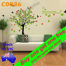 Wall Sticker Decal poster school home office room decor flying bird tree C0036