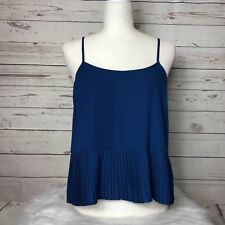 New WAYF Nordstrom Pleated Cami Top Blouse Blue Size XS XSmall $68