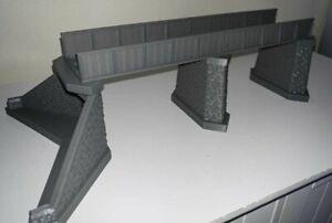 Large OO Gauge Model Railway Girder Bridge with Stonework Effect Support Piers
